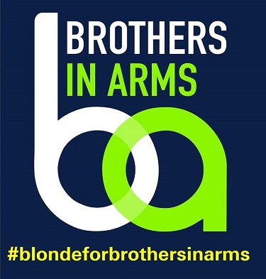 Today's the day, Go Blonde For Brothers in Arms !!